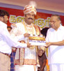 AVM Saravanan giving clap to Tamil movie Ponnar-Sankar, at a function in Chennai on 12.07.2009, Sunday.