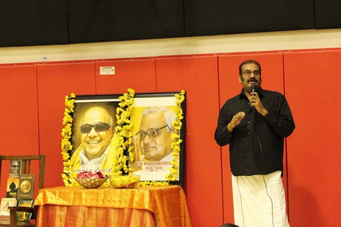 Tennessee Tamil Sangam  Pays Tribute to Dr. M Karunanidhi and Dr.Atal Bihari Vajpayee