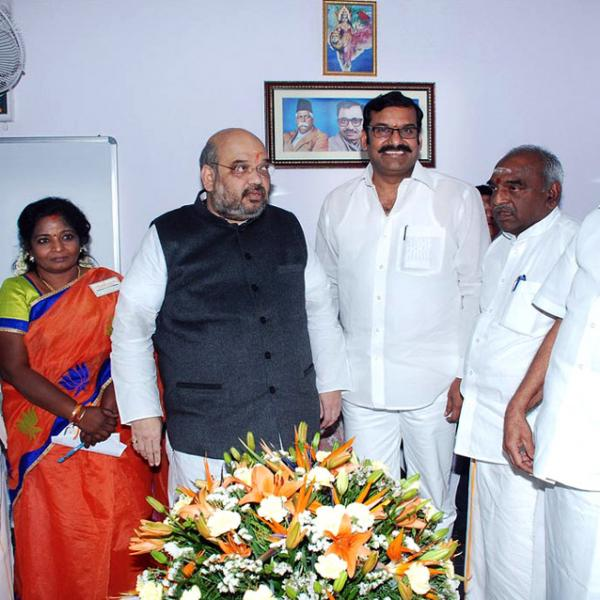 Nepoleon with Amit Shah